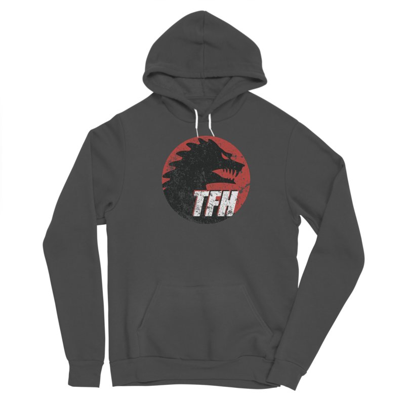 TFH Distressed Logo Women's Sponge Fleece Pullover Hoody by TRAILERS FROM HELL
