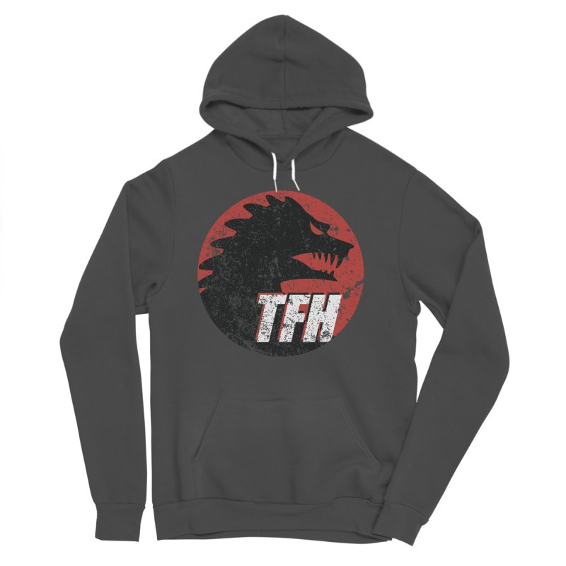 TFH Distressed Logo Women's Sponge Fleece Pullover Hoody by TRAILERS FROM HELL