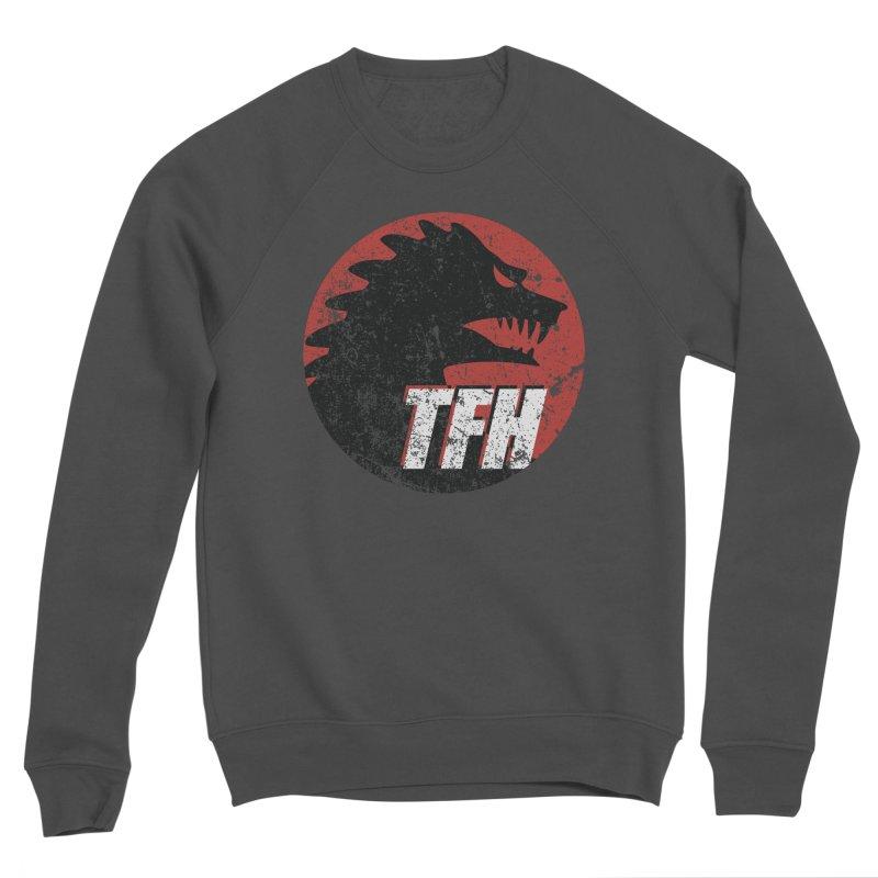 TFH Distressed Logo Men's Sponge Fleece Sweatshirt by TRAILERS FROM HELL