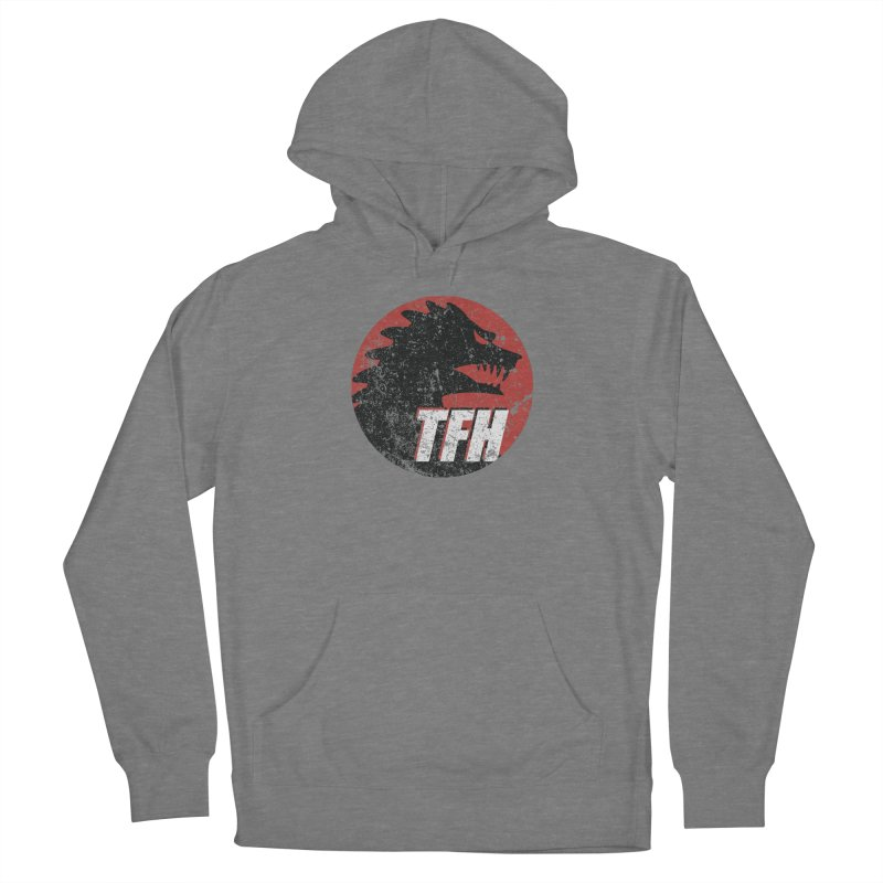 TFH Distressed Logo Women's French Terry Pullover Hoody by TRAILERS FROM HELL