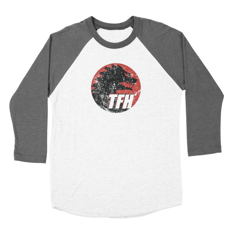 TFH Distressed Logo Women's Baseball Triblend Longsleeve T-Shirt by TRAILERS FROM HELL