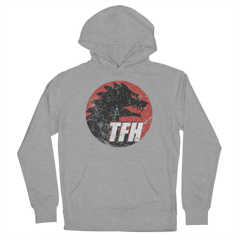 TFH Distressed Logo Men's French Terry Pullover Hoody by TRAILERS FROM HELL