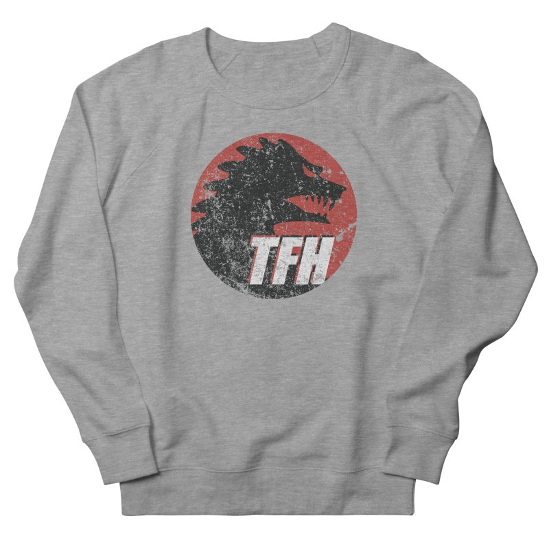 TFH Distressed Logo Women's French Terry Sweatshirt by TRAILERS FROM HELL