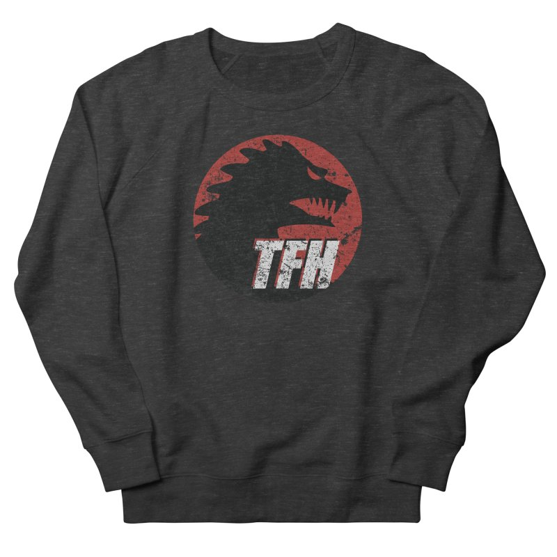 TFH Distressed Logo Men's French Terry Sweatshirt by TRAILERS FROM HELL