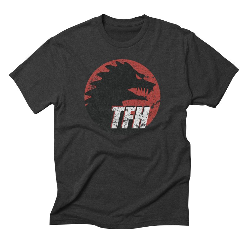 TFH Distressed Logo Men's Triblend T-Shirt by TRAILERS FROM HELL