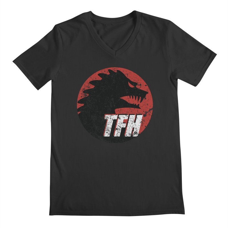 TFH Distressed Logo Men's Regular V-Neck by TRAILERS FROM HELL