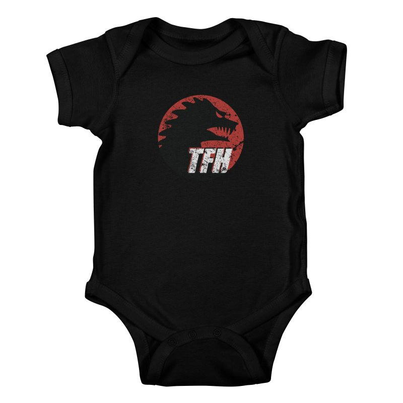 TFH Distressed Logo Kids Baby Bodysuit by TRAILERS FROM HELL