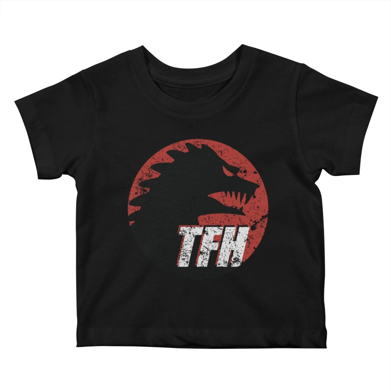 TFH Distressed Logo Kids Baby T-Shirt by TRAILERS FROM HELL