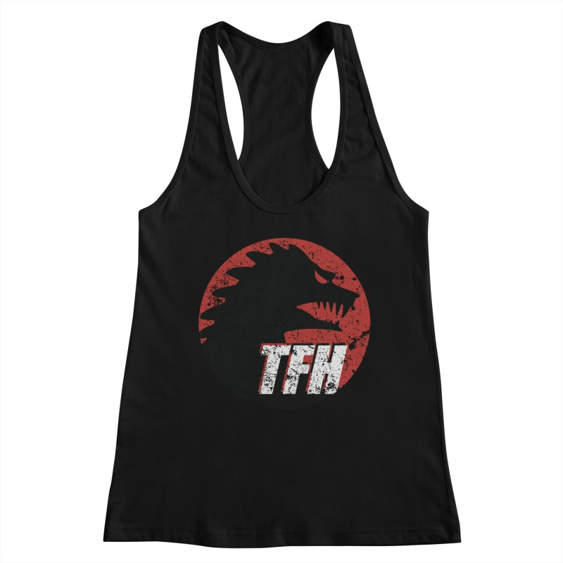 TFH Distressed Logo Women's Racerback Tank by TRAILERS FROM HELL