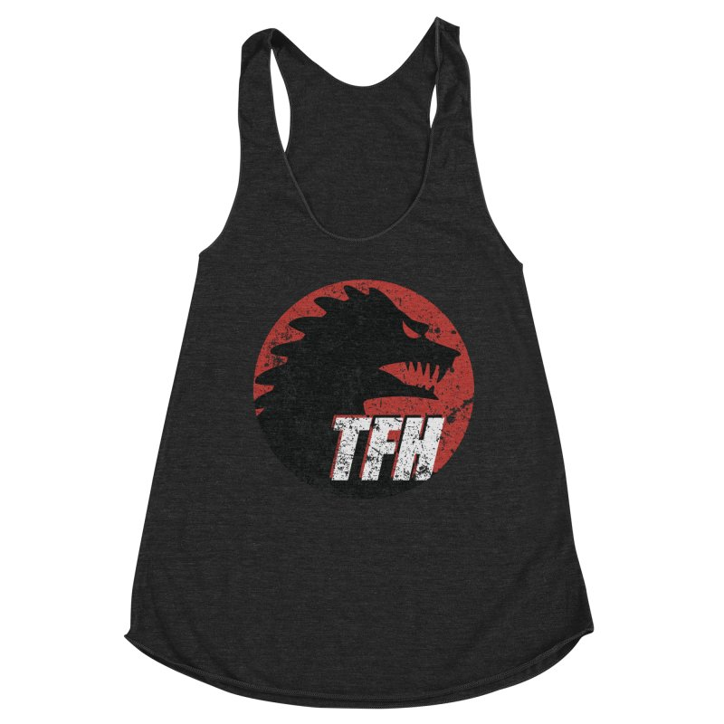 TFH Distressed Logo Women's Racerback Triblend Tank by TRAILERS FROM HELL