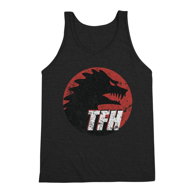 TFH Distressed Logo Men's Triblend Tank by TRAILERS FROM HELL