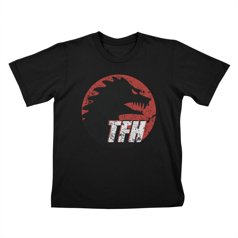 TFH Distressed Logo Kids T-Shirt by TRAILERS FROM HELL