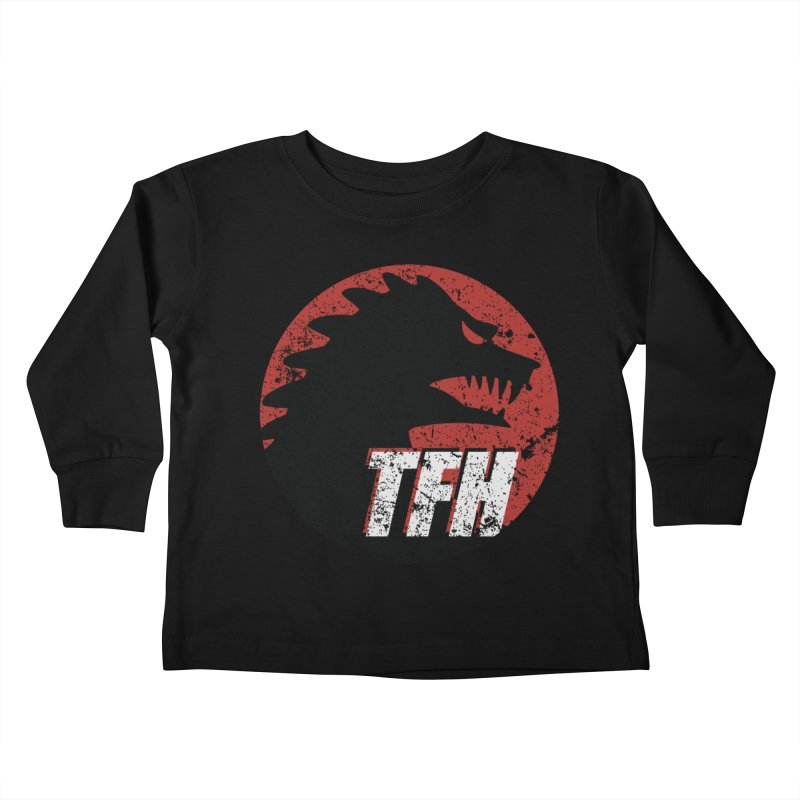 TFH Distressed Logo Kids Toddler Longsleeve T-Shirt by TRAILERS FROM HELL