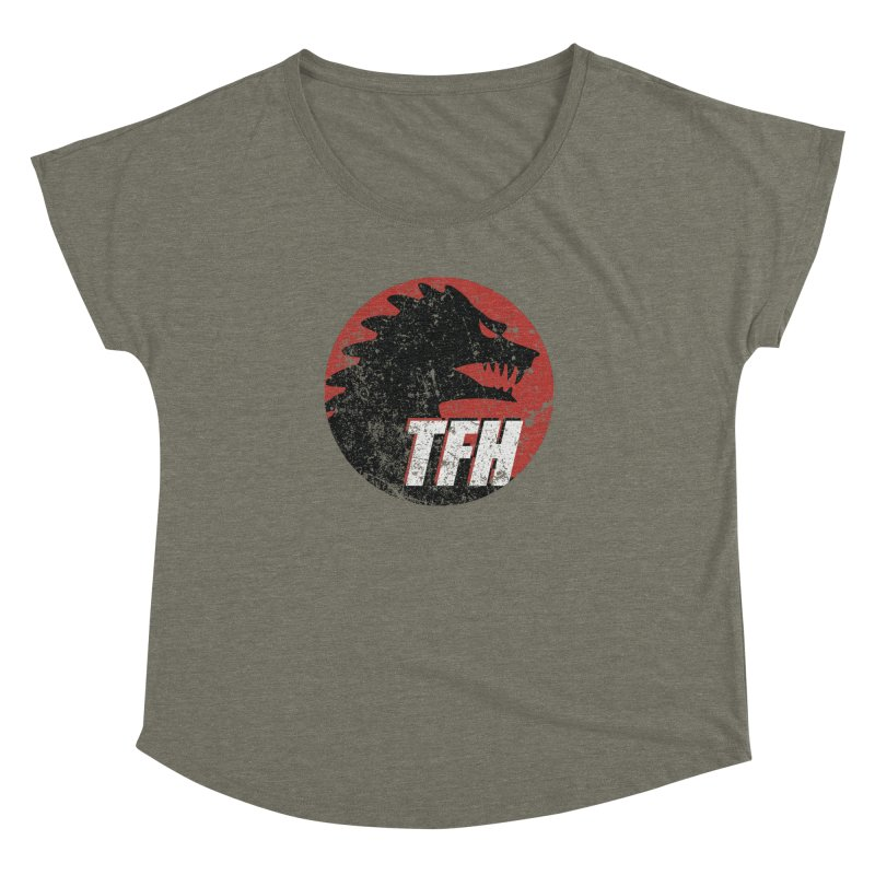 TFH Distressed Logo Women's Dolman Scoop Neck by TRAILERS FROM HELL