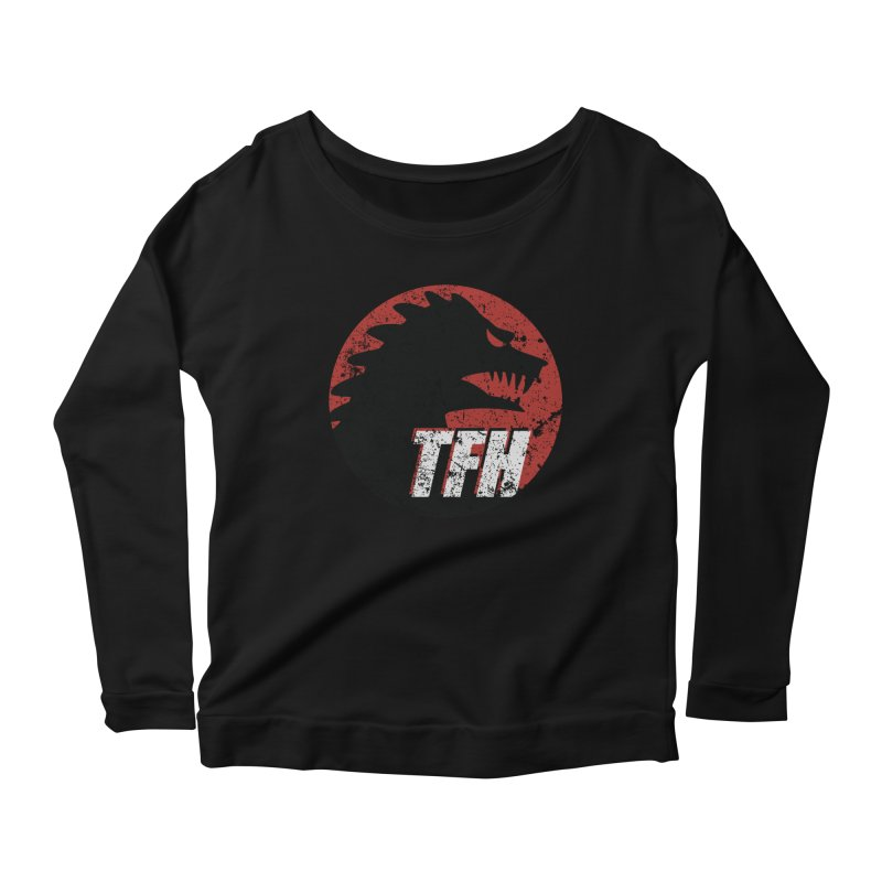 TFH Distressed Logo Women's Scoop Neck Longsleeve T-Shirt by TRAILERS FROM HELL