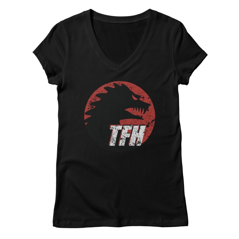 TFH Distressed Logo Women's Regular V-Neck by TRAILERS FROM HELL