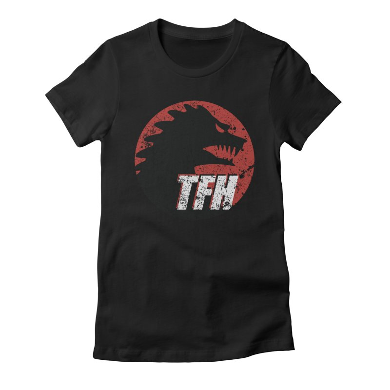 TFH Distressed Logo Women's Fitted T-Shirt by TRAILERS FROM HELL