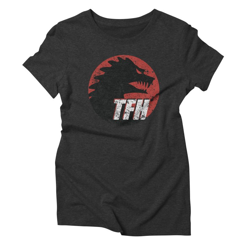 TFH Distressed Logo Women's Triblend T-Shirt by TRAILERS FROM HELL
