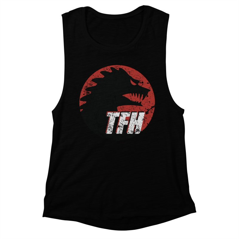 TFH Distressed Logo Women's Muscle Tank by TRAILERS FROM HELL