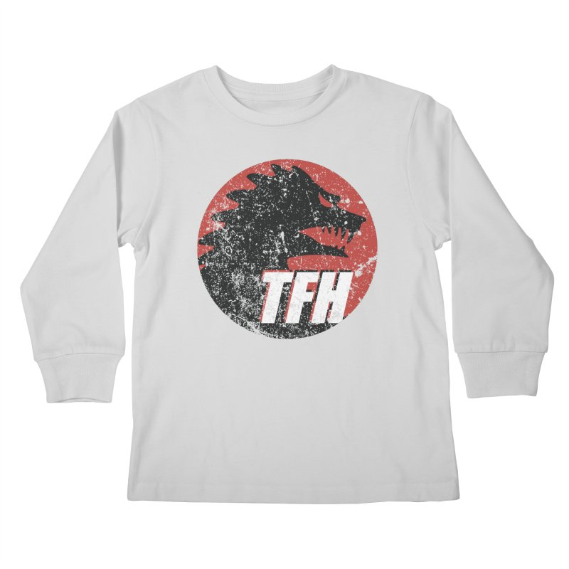 TFH Distressed Logo Kids Longsleeve T-Shirt by TRAILERS FROM HELL