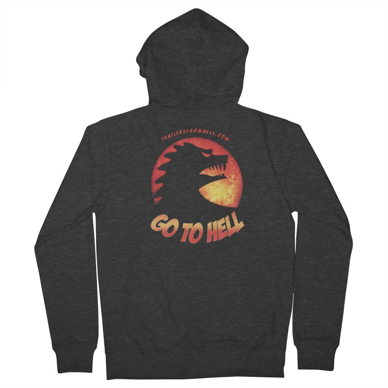 GO TO HELL Men's French Terry Zip-Up Hoody by TRAILERS FROM HELL