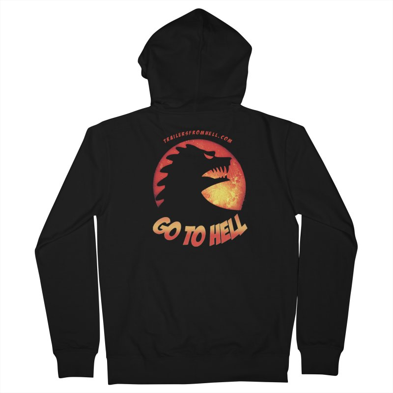 GO TO HELL Men's Zip-Up Hoody by TRAILERS FROM HELL