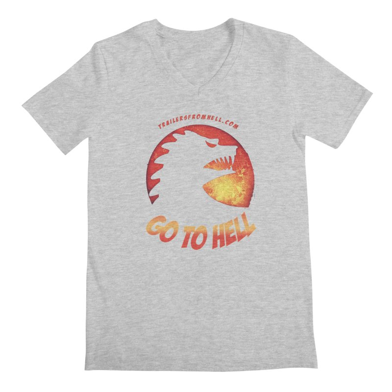 GO TO HELL Men's Regular V-Neck by TRAILERS FROM HELL