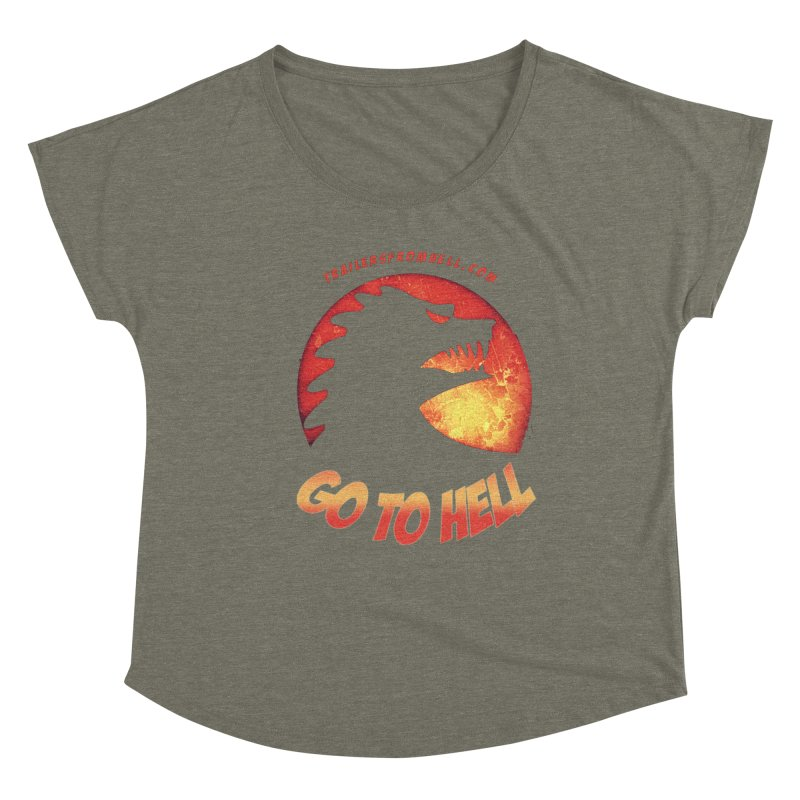 GO TO HELL Women's Dolman Scoop Neck by TRAILERS FROM HELL