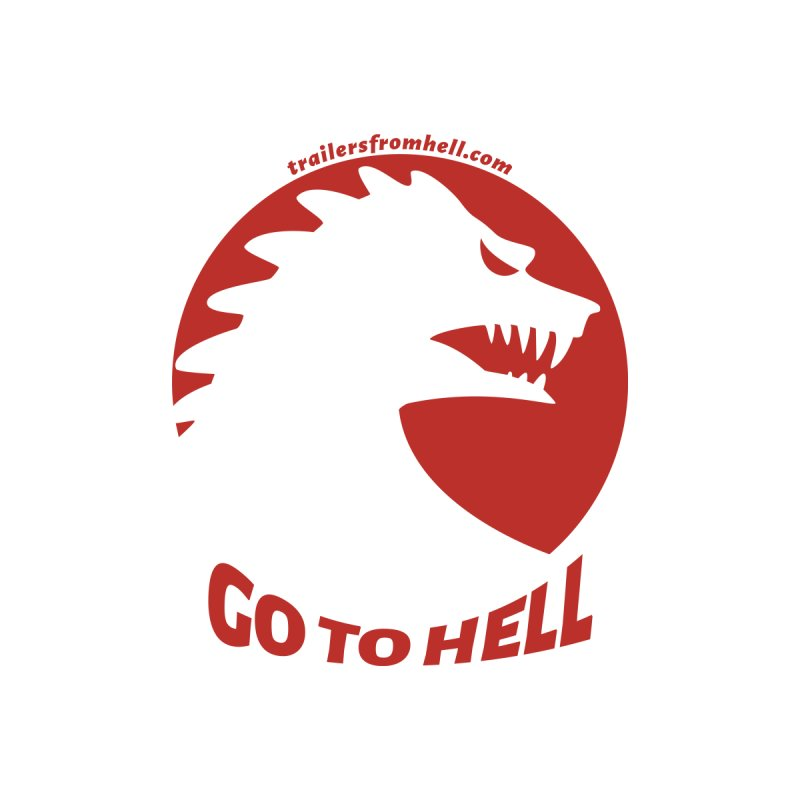 GO TO HELL - Classic Single Color Logo Kids Toddler Zip-Up Hoody by TRAILERS FROM HELL