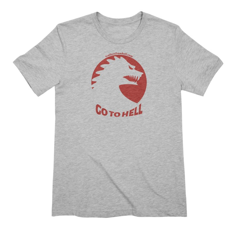 GO TO HELL - Classic Single Color Logo Men's Extra Soft T-Shirt by TRAILERS FROM HELL