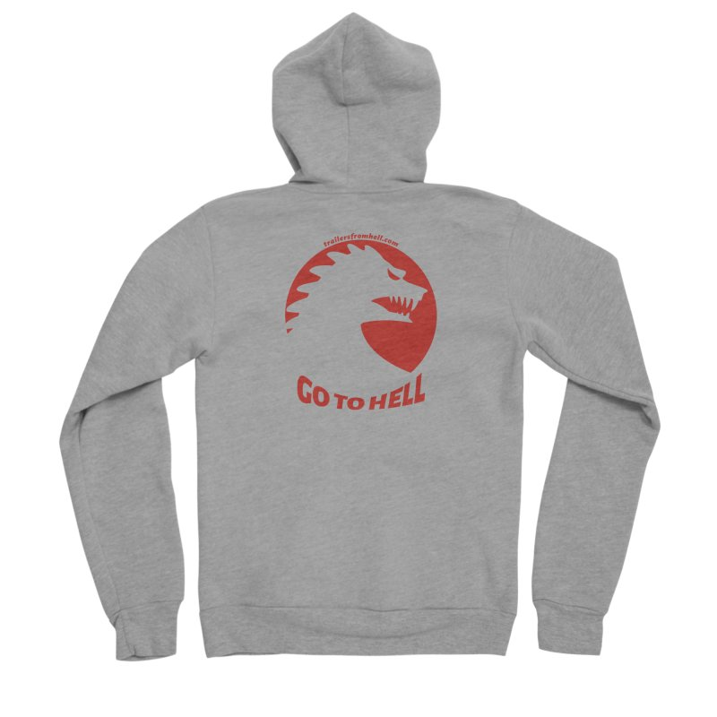 GO TO HELL - Classic Single Color Logo Men's Sponge Fleece Zip-Up Hoody by TRAILERS FROM HELL