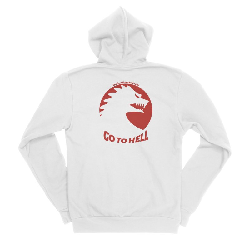 GO TO HELL - Classic Single Color Logo Women's Zip-Up Hoody by TRAILERS FROM HELL