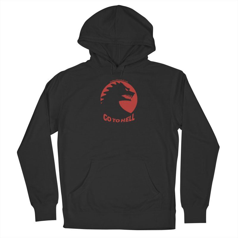 GO TO HELL - Classic Single Color Logo Women's French Terry Pullover Hoody by TRAILERS FROM HELL