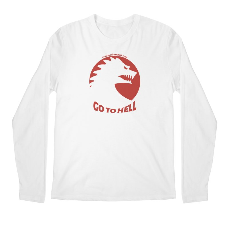 GO TO HELL - Classic Single Color Logo Men's Regular Longsleeve T-Shirt by TRAILERS FROM HELL