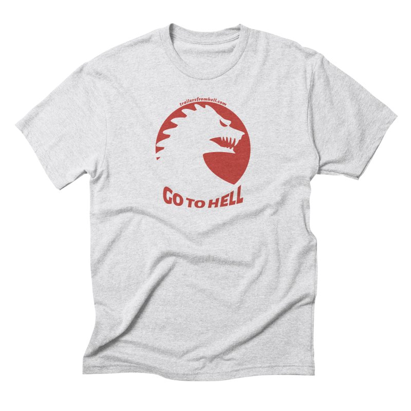 GO TO HELL - Classic Single Color Logo Men's Triblend T-Shirt by TRAILERS FROM HELL