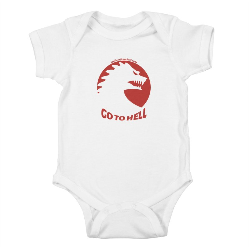 GO TO HELL - Classic Single Color Logo Kids Baby Bodysuit by TRAILERS FROM HELL