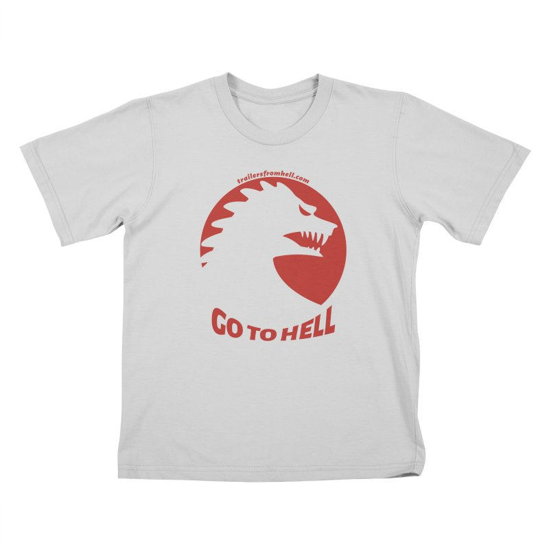 GO TO HELL - Classic Single Color Logo Kids T-Shirt by TRAILERS FROM HELL