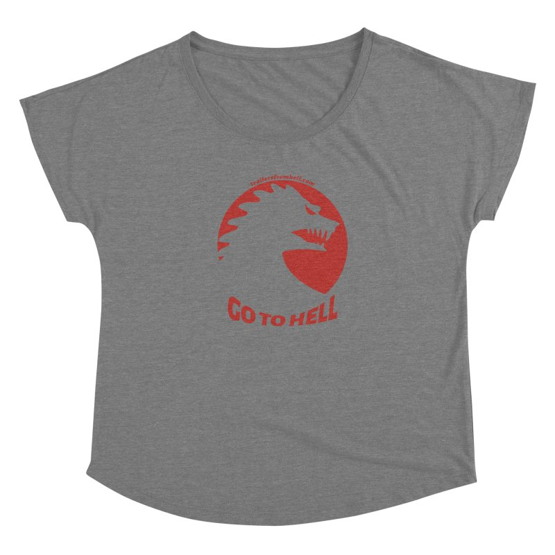 GO TO HELL - Classic Single Color Logo Women's Scoop Neck by TRAILERS FROM HELL