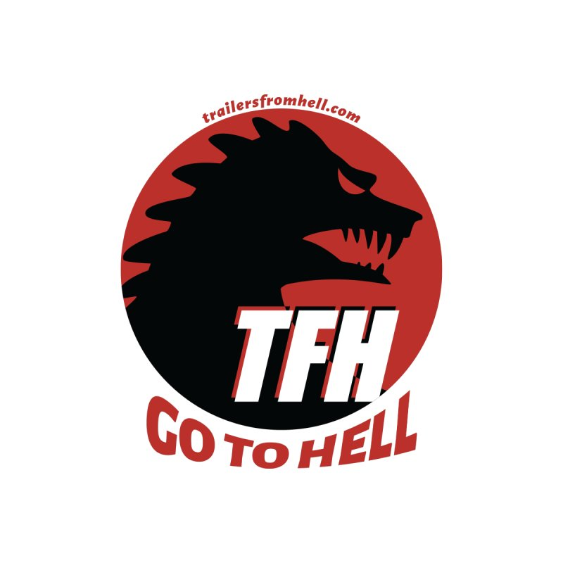 Go To Hell - Full Logo Men's Zip-Up Hoody by TRAILERS FROM HELL