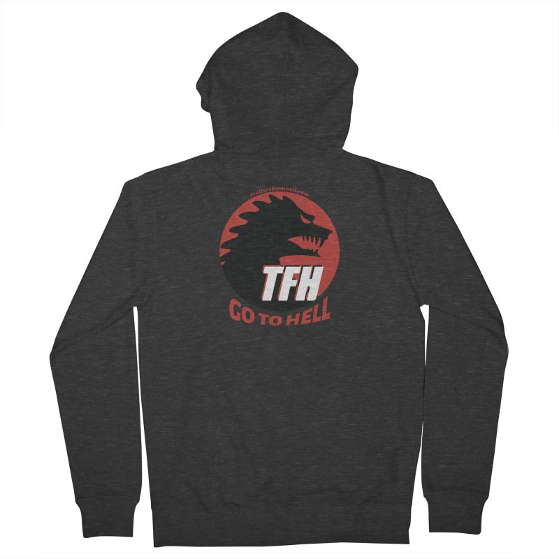Go To Hell - Full Logo Men's French Terry Zip-Up Hoody by TRAILERS FROM HELL