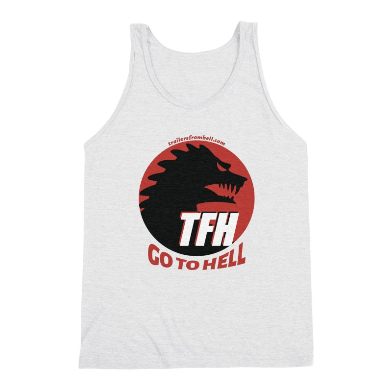 Go To Hell - Full Logo Men's Triblend Tank by TRAILERS FROM HELL
