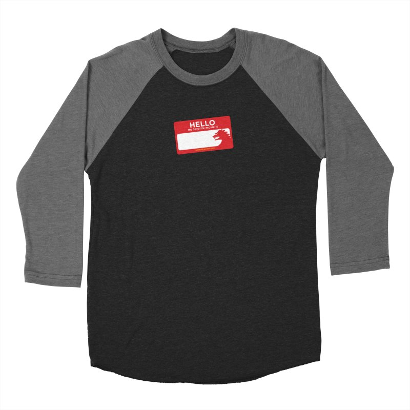 TFH Name Tag Women's Baseball Triblend Longsleeve T-Shirt by TRAILERS FROM HELL
