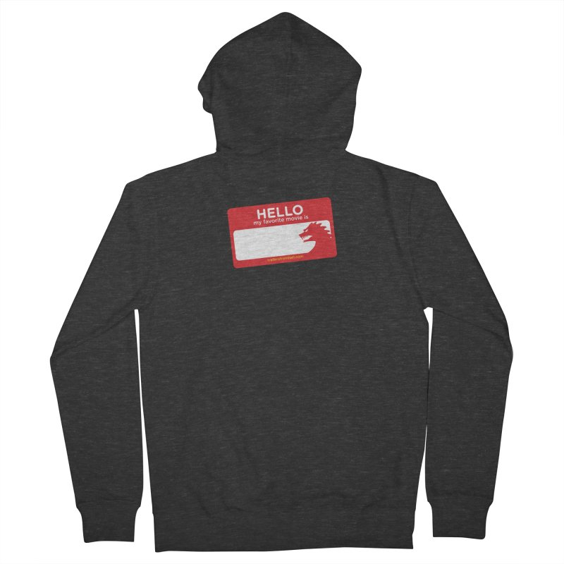 TFH Name Tag Women's French Terry Zip-Up Hoody by TRAILERS FROM HELL