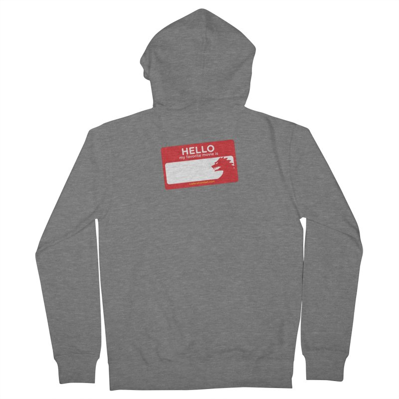 TFH Name Tag Women's Zip-Up Hoody by TRAILERS FROM HELL