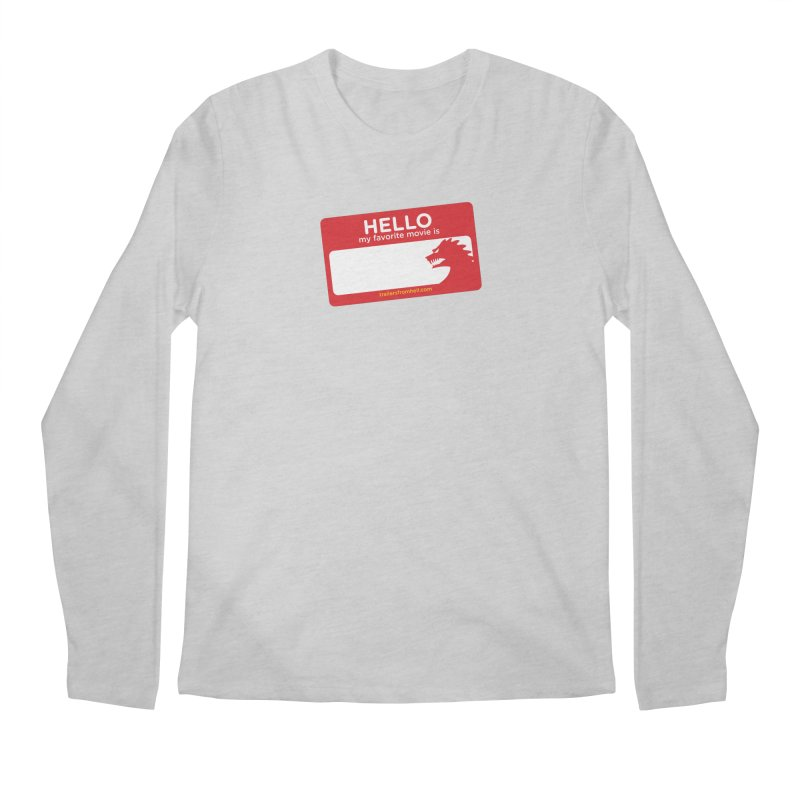 TFH Name Tag Men's Regular Longsleeve T-Shirt by TRAILERS FROM HELL