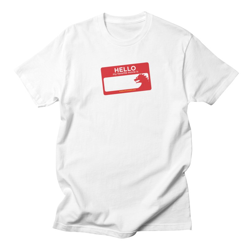 TFH Name Tag Men's Regular T-Shirt by TRAILERS FROM HELL