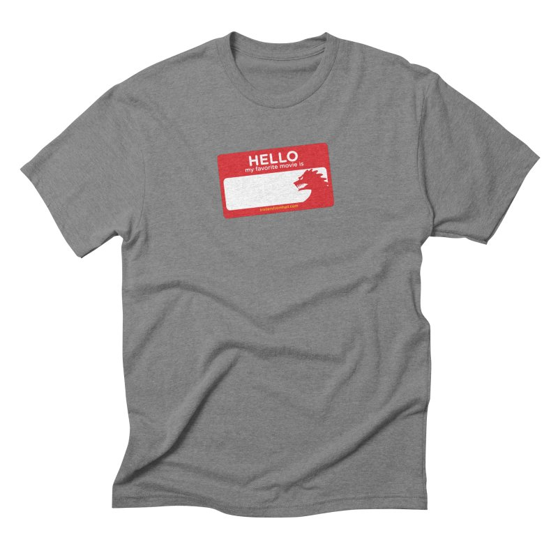 TFH Name Tag Men's Triblend T-Shirt by TRAILERS FROM HELL