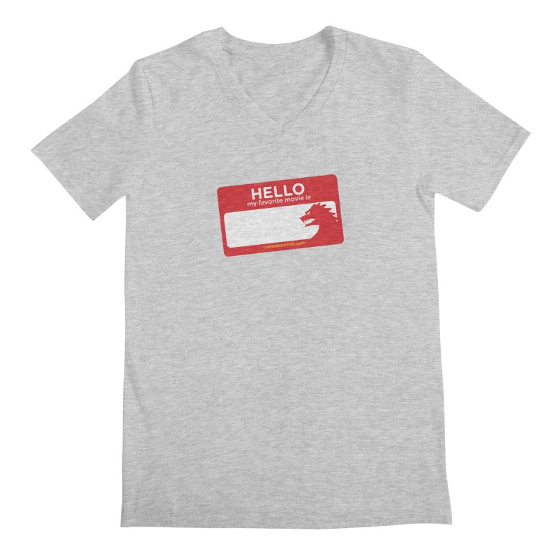 TFH Name Tag Men's Regular V-Neck by TRAILERS FROM HELL