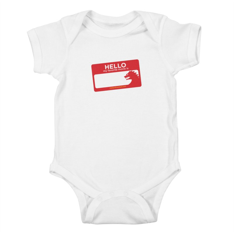 TFH Name Tag Kids Baby Bodysuit by TRAILERS FROM HELL