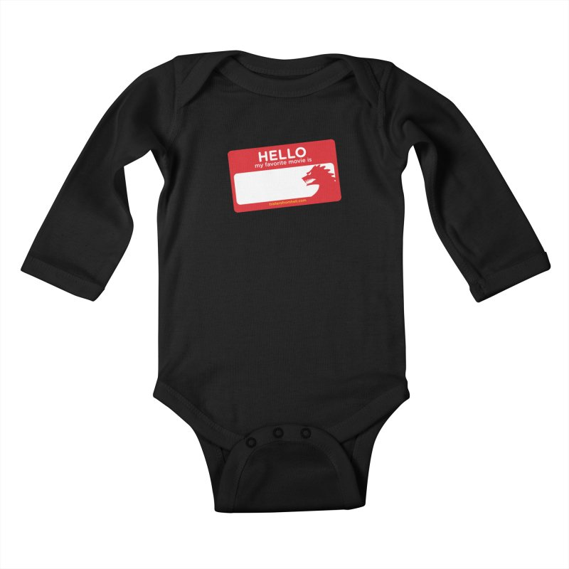 TFH Name Tag Kids Baby Longsleeve Bodysuit by TRAILERS FROM HELL